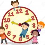 19109447-Illustration-de-Stickman-enfants-sur-une-grande-horloge-Banque-d'images