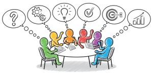 Farbige Strichmnnchen: Gemeinsames Lsungskonzept am runden Tisch