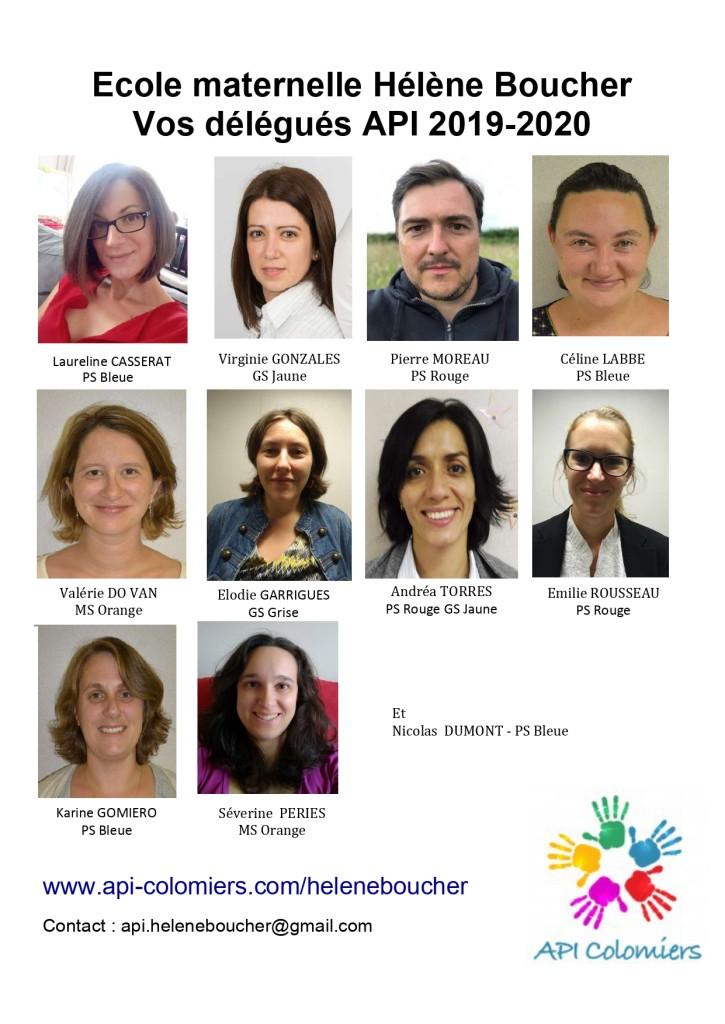 Trombinoscope API Maternelle 2019 2020